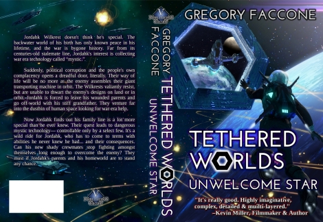 "Notice our new, fine-looking ""techy"" font. We retained the signature hexagonal egress replacing the ""O"" in ""Worlds."""