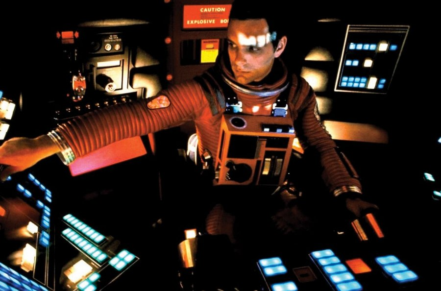 "Keir Dullea as Dave Bowman in Arthur C. Clarke's 200:1 A Space Odyssey. ""I'm not worried, it's not like they'll ever make a sequel to this...right?"""